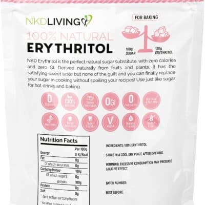 NKD Living 100% Natural Erythritol Powdered